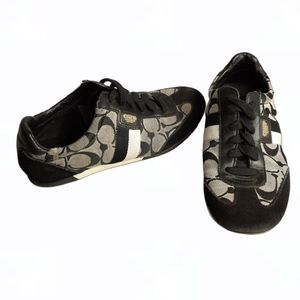 Coach Joss Signature Monogram Black Gray Sneakers
